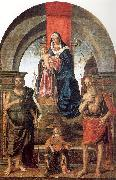 Palmezzano, Marco Virgin and Child Enthroned between Saints John the Baptist and Jerome oil painting artist