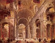 Panini, Giovanni Paolo Interior of Saint Peter's, Rome oil painting picture wholesale