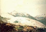 Pars, William The Rhone Glacier and the Source of the Rhone oil painting picture wholesale