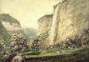 Pars, William The Valley of Lauterbrunnen and the Staubbach oil painting picture wholesale
