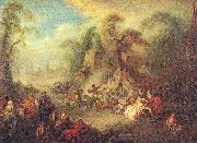 Pater, Jean-Baptiste A Country Festival with Soldiers Rejoicing oil painting picture wholesale