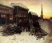 Perov, Vasily The Last Tavern at the City Gates oil painting artist
