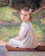 Perry, Lilla Calbot Girl with a Pink Bow oil painting artist