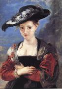 Peter Paul Rubens Susanna Fourment or Le Cbapeau de Paille (mk01) oil painting picture wholesale