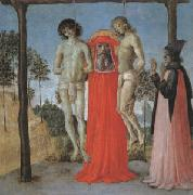 Pietro Perugino st Jerome supporting Two Men on the Gallows oil painting picture wholesale