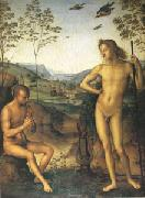 Pietro vannucci called IL perugino Apollo and Marsyas (mk05) oil painting picture wholesale