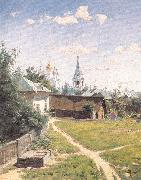 Polenov, Vasily Moscow Courtyard oil painting artist