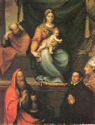 Prado, Blas del The Holy Family with Saints and the Master Alonso de Villegas oil painting picture wholesale