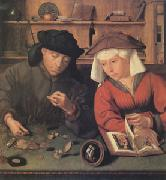 Quentin Massys The Moneylender and His Wife (mk05) oil painting