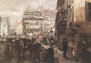 Adolph von Menzel A Paris Day (mk09) oil painting picture wholesale