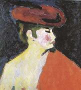 Alexei Jawlensky The Red Shawl (mk09) oil painting