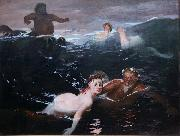 Arnold Bocklin The Waves (mk09) oil painting picture wholesale