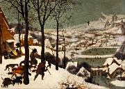 BRUEGEL, Pieter the Elder The Hunters in the Snwo (mk08) oil painting picture wholesale