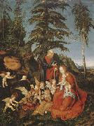CRANACH, Lucas the Elder Rest on the Flight to Egypt (mk08) oil painting picture wholesale
