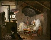 Carl Spitzweg The Poor Poet (mk09) oil painting artist