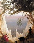 Caspar David Friedrich Chalk Cliffs on Rugen (mk09) oil painting picture wholesale