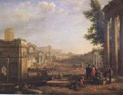 Claude Lorrain View of the Campo Vaccino ()mk05 oil