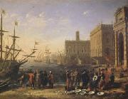 Claude Lorrain View of a Port with the Capitol (mk05) oil