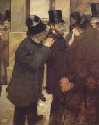 Edgar Degas At the Stock Exchange (mk06) oil painting picture wholesale