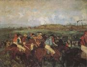 Edgar Degas The Gentlemen's Race Before the Start (mk09) oil painting picture wholesale