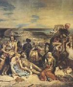 Eugene Delacroix Scenes of the Massacres of Scio;Greek Families Awaiting Death or Slavery (mk05) oil painting picture wholesale