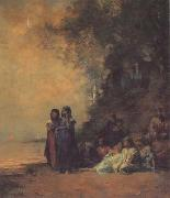 Eugene Fromentin Eqyptian Women on the Edge of the Nile (san12) oil painting picture wholesale