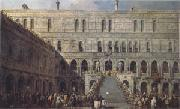 Francesco Guardi The Coronation of the Doge on the Staircase of the Giants at the Ducal Palace (mk05) oil painting picture wholesale