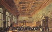 Francesco Guardi rThe Doge Grants an Andience in the Sala del Collegin in the Ducal Palace (mk05) oil painting picture wholesale