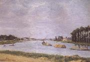 Francisco Oller y Cestero Banks of the Seine (mk06) oil painting picture wholesale