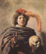 Frans Hals Young Man with a Skull (mk08) oil painting picture wholesale