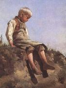 Franz von Lenbach Young boy in the Sun (mk09) oil painting picture wholesale