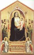GIOTTO di Bondone Enthroned Madonna with Saints (mk08) oil painting picture wholesale