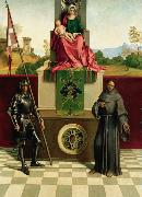 Giorgione Virgin and Child with SS Francis and Liberalis (mk08) oil painting artist