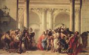 Giovanni Battista Tiepolo Christ with the Woman Taken in Adultery (mk05) oil painting picture wholesale