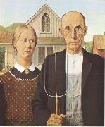 Grant Wood Anerican Gothic (mk09) oil painting artist