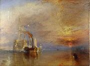 J.M.W. Turner The  Fighting Temeraire Tugged to het last berth to be Broken Up (mk09) oil painting picture wholesale
