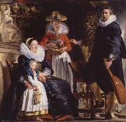 Jacob Jordaens The Family of the Arist (mk08) oil painting picture wholesale