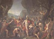 Jacques-Louis  David Leonidas at Thermopylae (mk05) oil painting picture wholesale