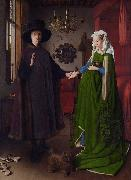 Jan Van Eyck Giovanni Arnolfini and His wife Giovanna Cenami (mk08) oil painting picture wholesale