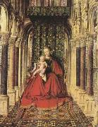 Jan Van Eyck The Virgin and Child in a Church (mk08) oil painting picture wholesale