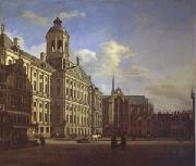 Jan van der Heyden The Dam with the New Town Hall in Amsterdam (mk05) oil painting artist