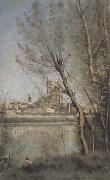 Jean Baptiste Camille  Corot La cathedrale de Mantes (mk11) oil painting picture wholesale