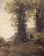 Jean Baptiste Camille  Corot Pastorale (mk11) oil painting picture wholesale
