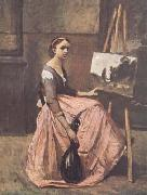 Jean Baptiste Camille  Corot L'atelier (mk11) oil painting picture wholesale