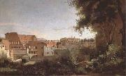 Jean Baptiste Camille  Corot View of the Colosseum from the Farnese Gardens (mk09) oil painting picture wholesale