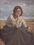 Jean Baptiste Camille  Corot Moissonneuse tenant sa faucille (mk11) oil painting picture wholesale