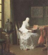 Jean Baptiste Simeon Chardin The Bird-Organ (mk05) oil painting picture wholesale