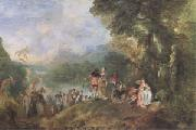 Jean-Antoine Watteau The Embarkation for Cythera (mk05) oil painting picture wholesale