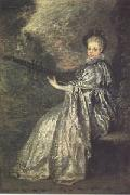 Jean-Antoine Watteau La Finette(The Delicate Musician) (mk05) oil painting picture wholesale