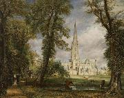 John Constable Salisbury Cathedral from the Bishop's Grounds (mk09) oil painting picture wholesale
